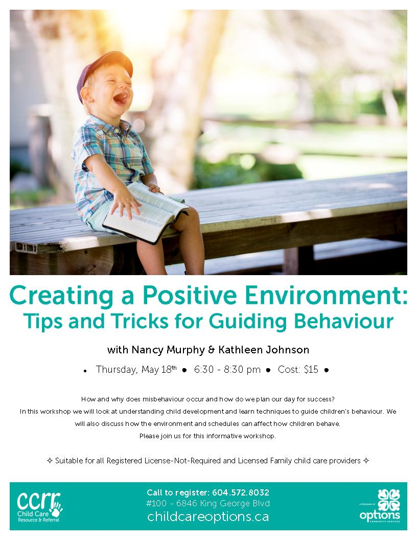 Family Child Care Workshop – Creating a Positive Environment