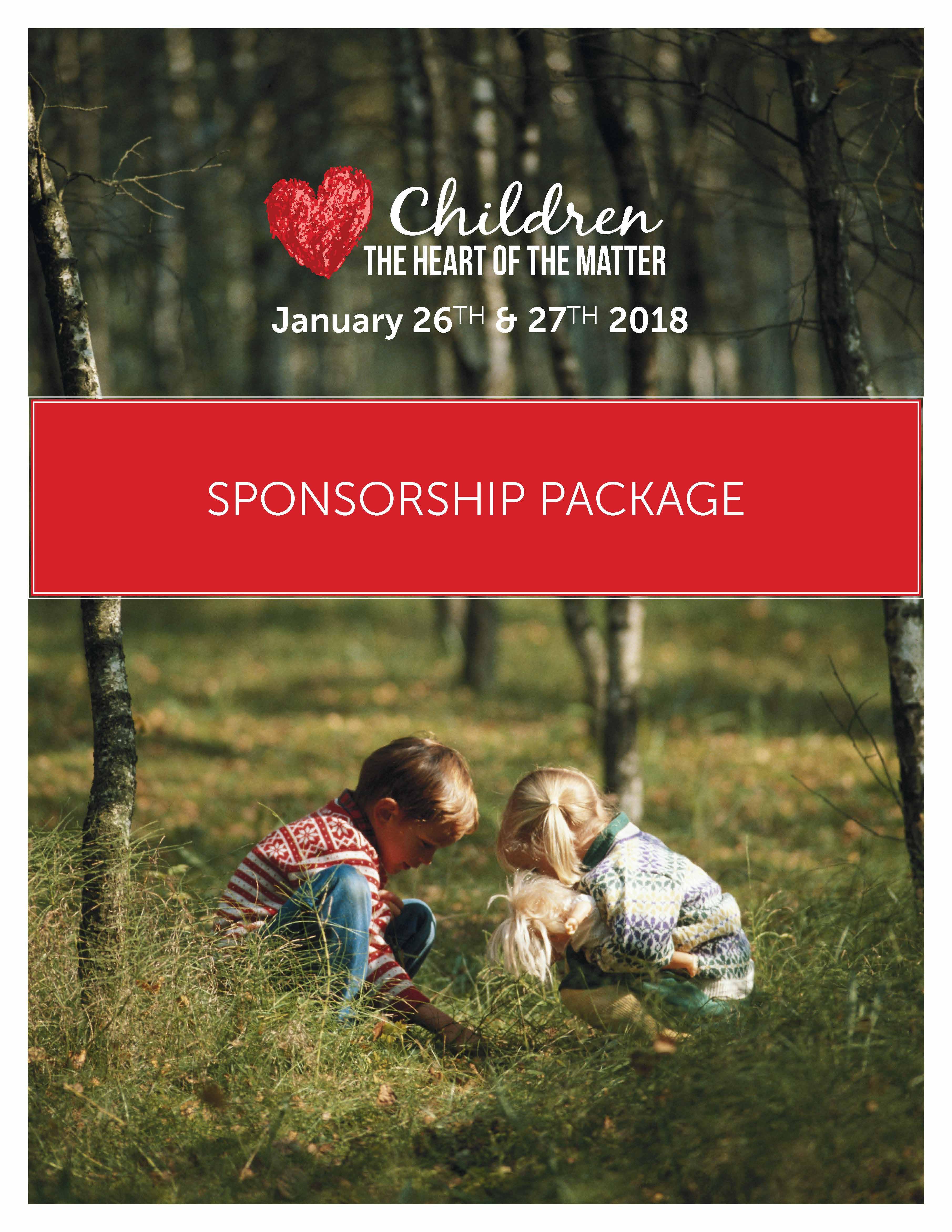 Children the Heart of the Matter Sponsorship package